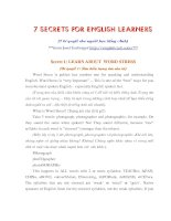 Tài liệu 7 secrets for english learners docx