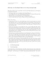 Phần Một: Các Vấn đề Quyết định và Các Thủ tục Ra Quyết định