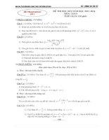 10 đề thi học kì 1 toán 12