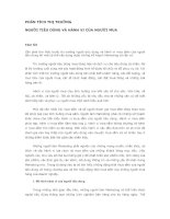 Chapter 4 PHÂN TÍCH THỊ TRƯỜNG NGƯỜI TIÊU DÙNG VÀ HÀNH VI CỦA NGƯỜI MUA