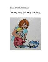 Tài liệu Một số lưu ý khi chăm sóc trẻ ppt