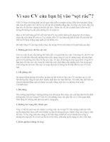 """Tài liệu Vì sao CV của bạn bị vào """"sọt rác""""? pdf"""