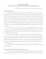Tài liệu MỘT SỐ SUY NGHĨ VỀ VIỆC GIẢNG DẠY TIẾNG ANH CHUYÊN NGÀNH HIỆN NAY pptx