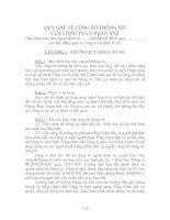 Tài liệu QUY CHẾ VỀ CÔNG BỐ THÔNG TIN CỦA CÔNG TY CỔ PHẦN pdf