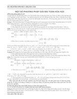 một số phương pháp giải bài toán hóa học