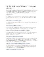 Tài liệu 20 thủ thuật trong Windows 7 cho người sử dụng pdf