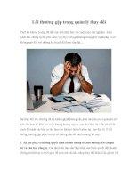 Tài liệu Lỗi thường gặp trong quản lý thay đổi pdf