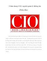 Tài liệu Chân dung CIO- người quản lý thông tin (Phần đầu) docx