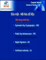 Tài liệu Bảo mật- Mã hóa dữ liệu pptx