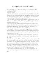 Tài liệu ÔN TẬP LỊCH SỬ TRIẾT HỌC pdf
