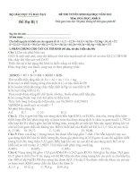 ĐỀ THI TUYỂN SINH ĐẠI HỌC NĂM 2012 MÔN HÓA HỌC KHỐI B (ĐỀ DỰ BỊ)