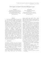 Tài liệu POS-Tagger for English-Vietnamese Bilingual Corpus pdf