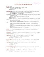 Tài liệu Luyện thi Toeic- Từ vựng theo chủ đề Making sense pptx