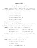 Tài liệu Câu hỏi trắc nghiệm Chuyên đề nguồn điện xoay chiều pdf