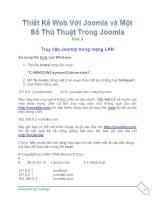 Tài liệu Thiết Kế Web Với Joomla part 3 ppt