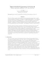 Tài liệu Object Oriented Programming via Fortran 90 ppt
