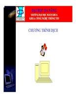 Những Kiến Thức Cơ Bản Về Chương Trình Dịch (Bách Khoa Đà Nẵng)