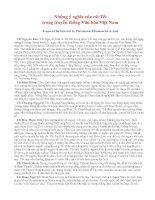 Tài liệu Ý nghĩa của những cái Tết trong truyền thống Văn hóa Việt Nam