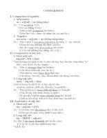 Tài liệu [Luyện thi tiếng Anh] Unit 15: Comparisons doc