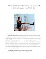 Tài liệu Bán hàng khiêu khích: Nghệ thuật sử dụng ngôn từ để thành công trong bán hàng (Phần Một) doc