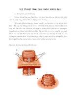 Tài liệu Giáo trình Kỹ thuật làm hậu môn nhân tạo pdf