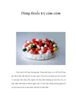 Tài liệu Dùng thuốc trị cảm cúm pdf