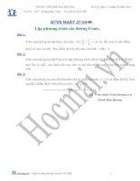 Tài liệu Các bài toán lập phương trình các đường conic (Bài tập và hướng dẫn giải) ppt