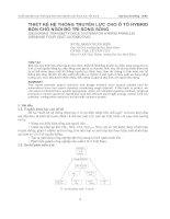 Tài liệu Thiết kế hệ thống truyền lực cho ô tô Hybrid bốn chỗ ngồi bố tr1 song song pdf