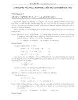 10 phương pháp hay giải bài tập trắc nghiệm hóa học