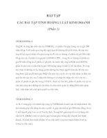 Tài liệu CÁC BÀI TẬP TÌNH HUỐNG LUẬT KINH DOANH pptx