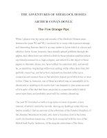 Tài liệu LUYỆN ĐỌC TIẾNG ANH QUA TÁC PHẨM VĂN HỌC-THE ADVENTURES OF SHERLOCK HOMES -ARTHUR CONAN DOYLE 5-1 docx