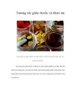 Tài liệu Tương tác giữa thuốc và thức ăn pdf