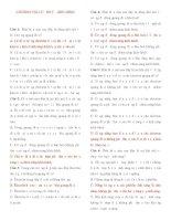 Tài liệu Bài tập trắc nghiệm chương VIII: lượng tử ánh sáng + đáp án pdf