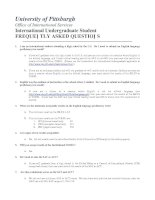 Tài liệu INTERNATIONAL UNDERGRADUATE STUDENT- FREQUENTLY ASKED QUESTION pptx