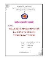 Hoạt động marketing mix tại công ty du lịch vietholiday tour