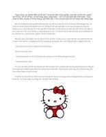 Chú mèo không có miệng - Sự tích Hello Kitty