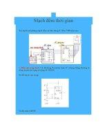 Tài liệu Mạch đếm thời gian Xét mạch mô phỏng mạch đếm cơ bản dùng IC đếm 7490 ppt