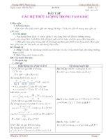 Bài giảng Giao an Hình học 10 tuan 22