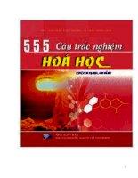 Tài liệu 555 câu hỏi trắc nghiệm hóa học ppt