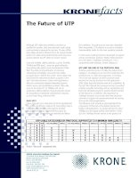 Tài liệu KRONE - White Paper - The Future of UTP Structured Cabling System docx