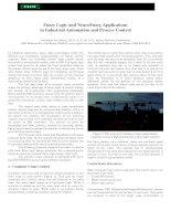 Tài liệu Fuzzy Logic and NeuroFuzzy Applications in Industrial Automation doc