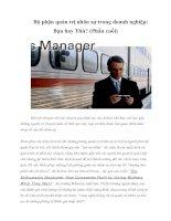 Tài liệu Bộ phận quản trị nhân sự trong doanh nghiệp: Bạn hay Thù? (Phần cuối) doc