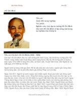 Tài liệu Tiểu sử, cuộc đời và sự nghiệp, tác phẩm của chủ tịch Hồ Chí Minh docx