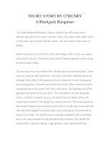 Tài liệu LUYỆN ĐỌC TIẾNG ANH QUA TÁC PHẨM VĂN HỌC-SHORT STORY BY O'HENRY -A Blackjack Bargainer pdf