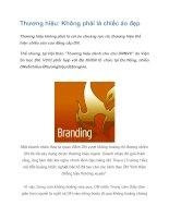 Tài liệu Thương hiệu: Không phải là chiếc áo đẹp pdf