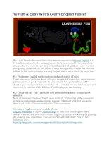 10 điều thú vị và các cách dễ dàng đề học tiếng anh nhanh hơn