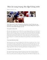 Tài liệu Bàn ăn sang trọng cho dịp Giáng sinh doc