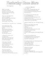 Tài liệu Tuyển tập những bài hát tiếng anh pptx