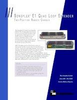 Tài liệu SONEPLEX E1 QUAD LOOP EXTENDER pdf