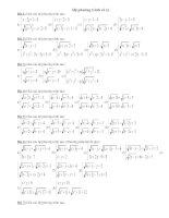 Bài soạn Bài tập nâng cao về hệ phương trình vô tỉ